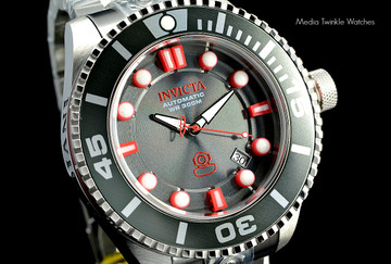 Invicta 19802 Grand Diver 2 Gen II 47mm Automatic Charcoal Dial Black Bezel Stainless Steel Bracelet Watch | Free Shipping