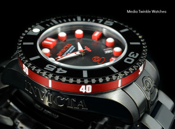Invicta 19809 Grand Diver 2 Gen II 47mm Automatic Black & Red Bracelet Watch | Free Shipping