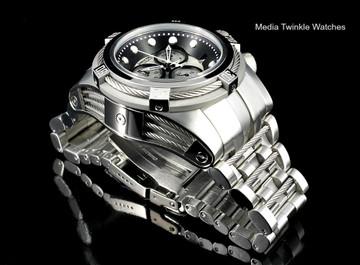 Invicta 21801 Reserve Bolt Zeus Swiss Quartz Chronograph Silver Tone Dial Bracelet Watch | Free Shipping