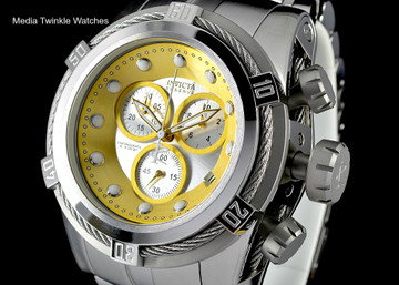 Invicta 21804 Reserve Bolt Zeus Swiss Quartz Chronograph Gold Tone Dial Bracelet Watch | Free Shipping