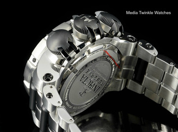 Invicta 21606 Subaqua 52mm Sea Dragon Swiss Quartz Chronograph Black Dial All Stainless Steel Bracelet Watch