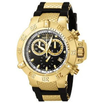 Invicta 5514 Men's Subaqua Noma III Swiss Made Chronograph Collection Black Polyurethane Strap Watch | Free Shipping