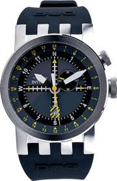 Invicta 10397 DNA AVIATION Swiss Quartz GMT Stainless Steel Silicone Strap Watch | Free Shipping