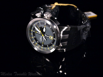 Invicta 10397 DNA AVIATION Swiss Quartz GMT Stainless Steel Silicone Strap Watch   Free Shipping