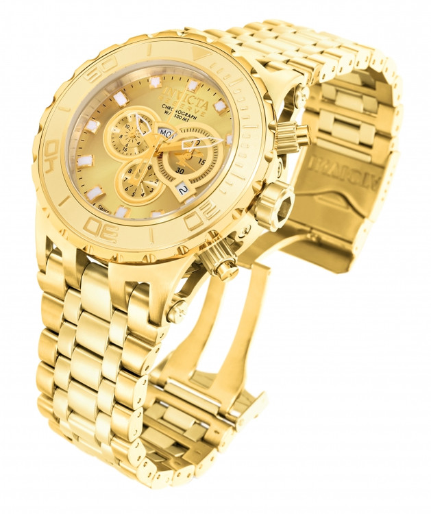 Invicta 6901 Reserve Men's Specialty Subaqua Gold Dial Swiss Quartz Chronograph Bracelet Watch | Free Shipping