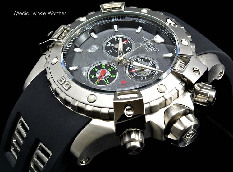 Invicta 15855 Sea Thunder Specialty Grey Dial Silver Bezel Swiss Quartz Chronograph Watch | Free Shipping