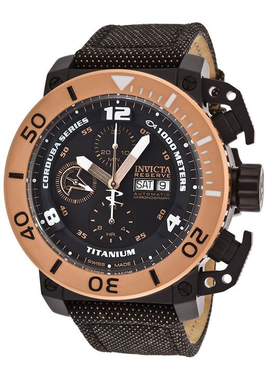 Invicta 13684 Reserve 48mm Corduba Enforcer Swiss Made ETA Valjoux 7750 Automatic Chronograph Titanium Kevlar Strap Watch | Free Shipping