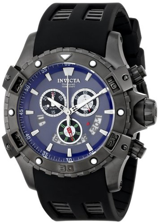 Invicta 15860 Sea Thunder Specialty 48mm Blue Dial Swiss Quartz Chronograph Watch | Free Shipping