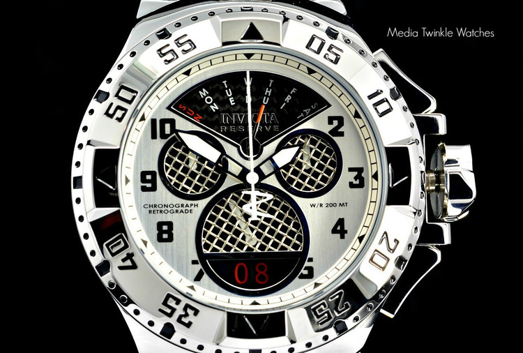 "Invicta 17468 Reserve Mens Excursion Swiss Quartz 8040.N ""Twisted Metal"" Silver Bracelet Watch 