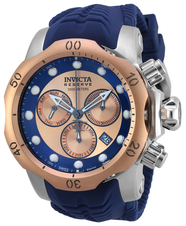 Invicta 19922 Reserve 52mm Venom Sea Dragon Swiss Made Quartz Chronograph Silicone Strap Watch | Free Shipping