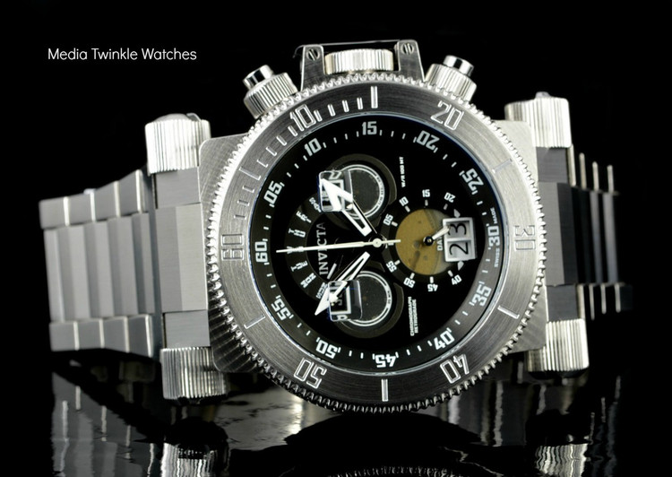 Invicta 17638 Coalition Forces 51mm Swiss Made Quartz Chronograph Black Dial Silver Bracelet Watch I Free Shipping
