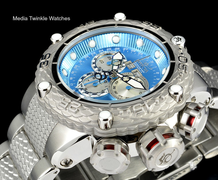 Invicta 21674 Subaqua Noma VI Swiss Quartz Chronograph Blue Dial All Silver Bracelet Watch