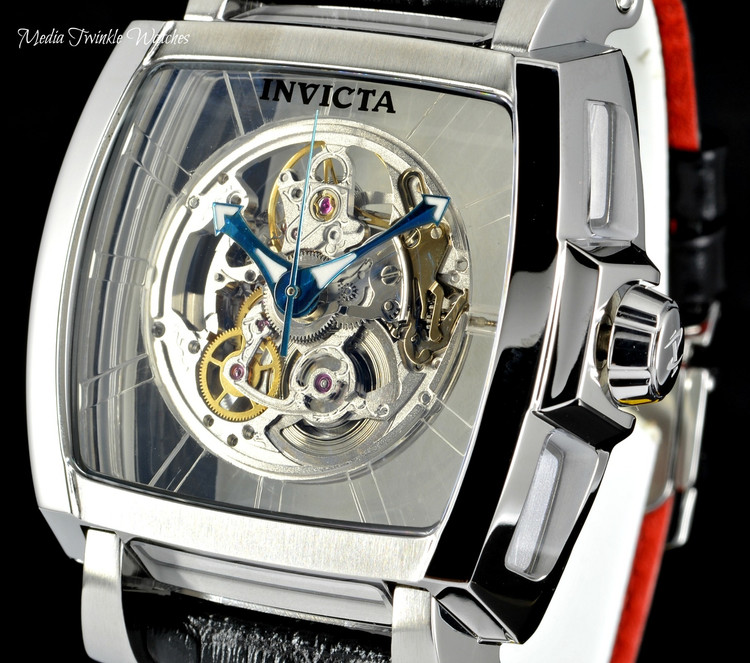 Invicta Reserve Men's 48mm SAPPHIRE GHOST Swiss Automatic Leather Strap Watch 22834