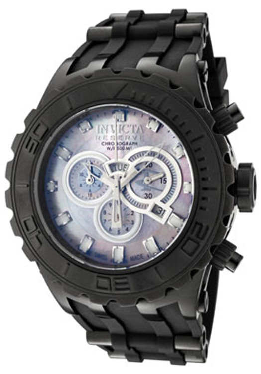 Invicta 0508 Reserve Collection Specialty Chronograph Black Polyurethane Watch | Free Shipping