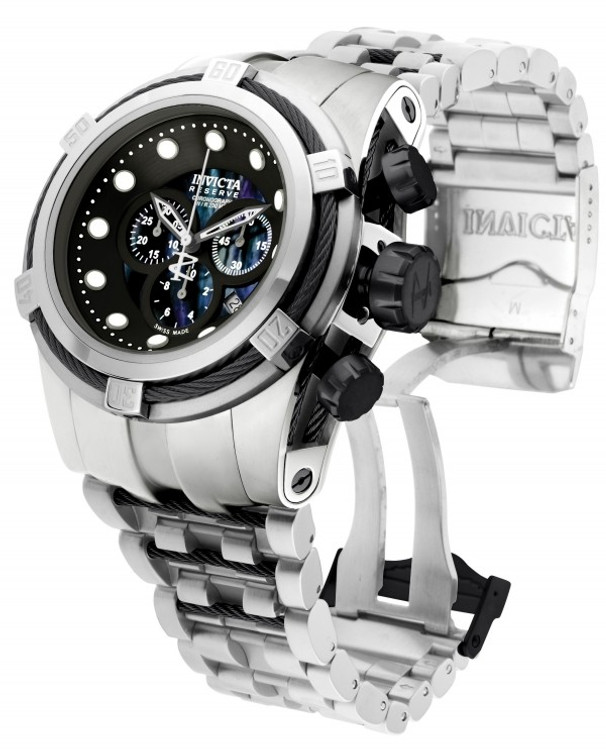 Invicta Reserve Bolt Zeus Swiss Made Quartz Chronograph Mother-of-Pearl Dial Bracelet Watch (Zeus) | Free Shipping