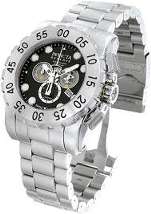 Invicta 7265 Signature Reserve Leviathan Swiss Made Chronograph Stainless Steel Watch | Free Shipping