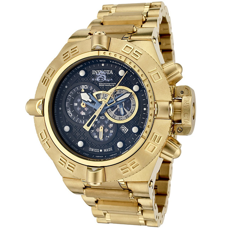 Invicta 6554 Men's Subaqua Noma IV Swiss Made Collection Chronograph 18k Gold-Plated Watch | Free Shipping