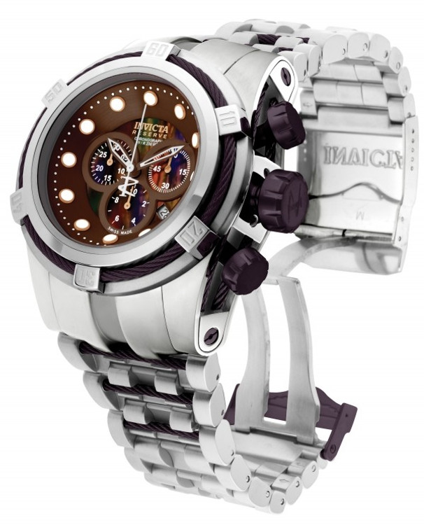 Invicta 0824 Reserve Men's Bolt Zeus Swiss Chronograph Mother-of-Pearl Bracelet Watch (RARE) | Free Shipping
