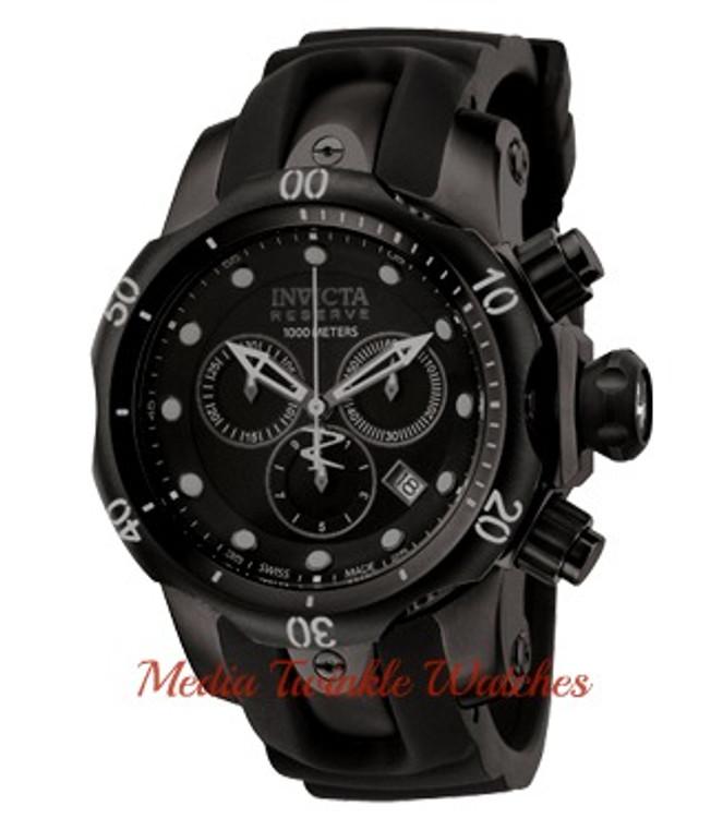 Invicta 0949 Reserve Venom Swiss Quartz Chronograph Combat Mid-Size Polyurethane Strap Watch w/ 3 SLOT DIVE CASE   Free Shipping