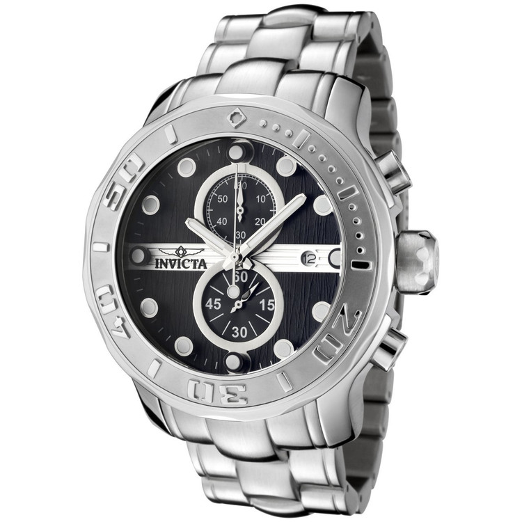 Invicta 0878 Men's Pro Diver Ocean Ghost Quartz Chronograph Stainless Steel Watch | Free Shipping