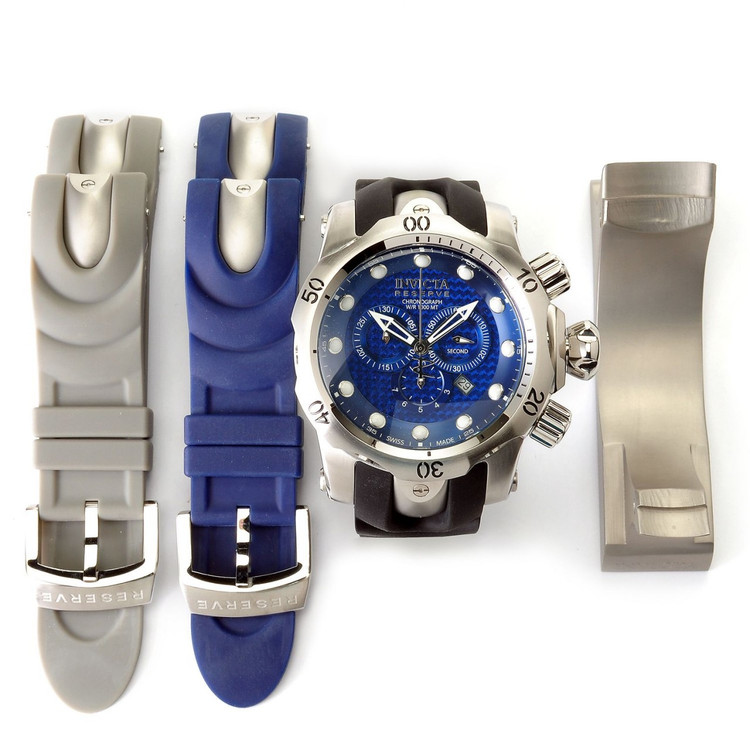 Invicta 10946 Reserve Men's Venom Ocean Quest II Quartz Interchangeable Strap Watch w/ 3-Slot Dive Case | Free Shipping