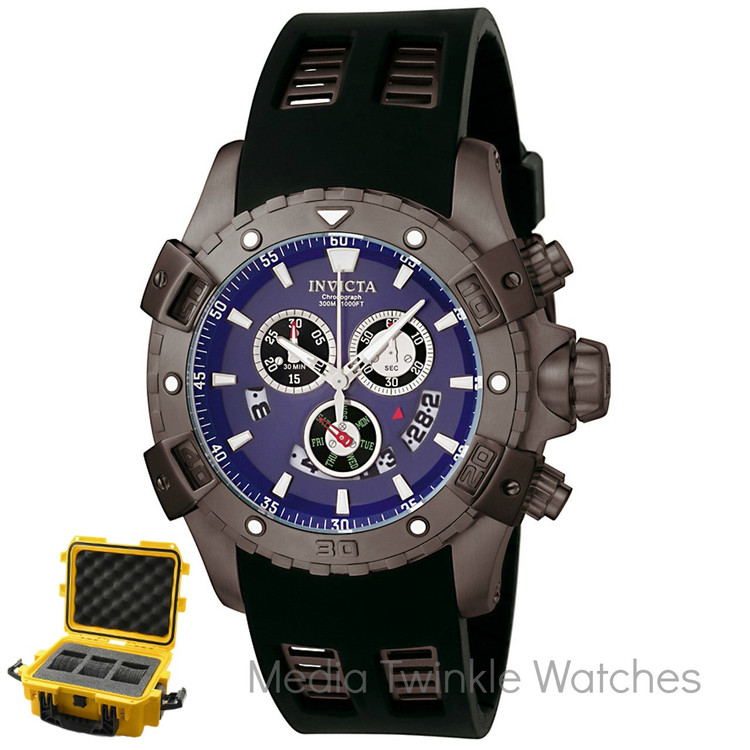 Invicta 6328 Sea Thunder Specialty Swiss Quartz Chronograph Watch w/3 Slot Dive Case | Free Shipping