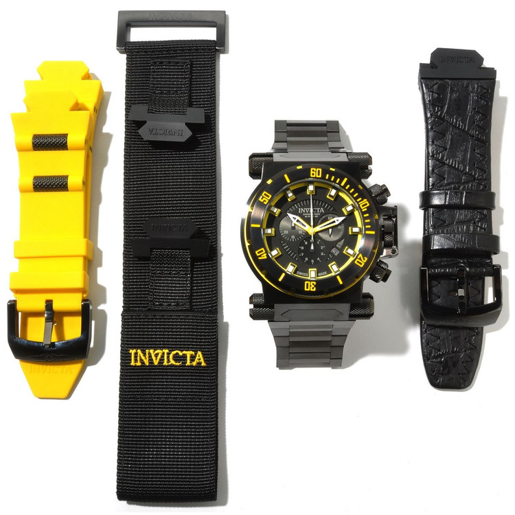 Invicta 10035 Men's Coalition Forces Black Label Swiss Made Quartz Chronograph Bracelet Watch | Free Shipping