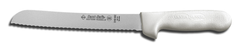 """S162-8SC Dexter Russell 8"""" Scalloped Bread Knife with SaniSafe Handle"""