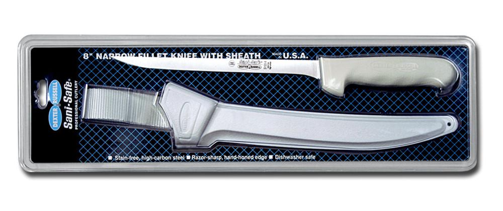S133-7WS1 Dexter Sani- Safe 7 inch narrow fillet knife w/sheath