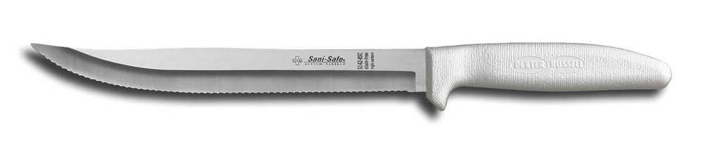 S142-8 Dexter Sani-Safe 8 inch scalloped utility slicer