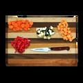 Mixed Hardwood Reversible Cutting Board Cherry Maple Walnut 13 x 9 Made in USA