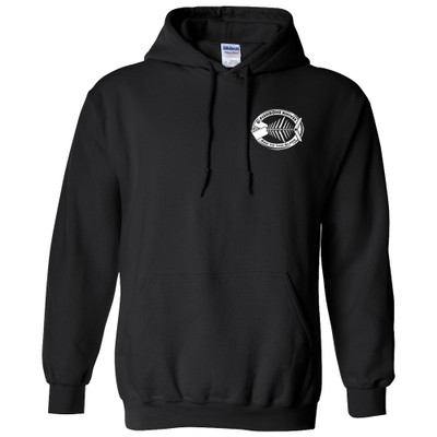Charity Fishbone Knives Unisex 100% Cotton Black Large Hoodie Hooded Sweatshirt