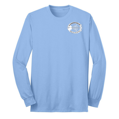 Fishbone Knives Cotton Long Sleeve Shirt - Light Blue - XL