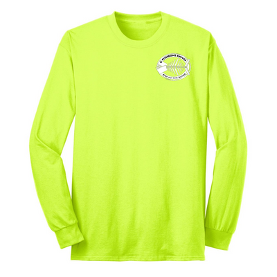 Fishbone Knives Cotton Long Sleeve Shirt - Safety Green - XL