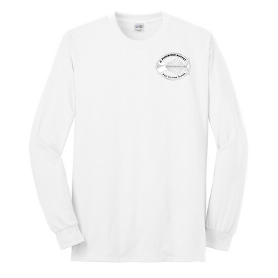 Fishbone Knives Performance Long Sleeve Shirt - White - XL