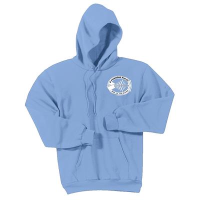 Fishbone Knives Cotton Sweatshirt - Light Blue - XXL
