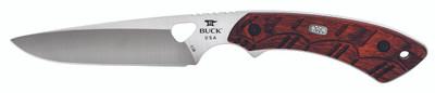 "Buck 538 Open Season Small Game Fixed 4.25"" Satin Blade Red Wood Handle Polyester Sheath 0538RWS 11707"
