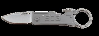 """SOG Keytron Folding Knife 1.8"""" Satin Blade with Bottle Opener and Key Ring KT1001 KT1001-CP"""