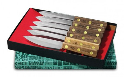 Dexter 6 pc. Steak Knife Set With Walnut Handles 20041 #2 Set