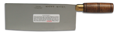 """Dexter Traditional 8"""" x 3 1/4"""" Chinese Chef's Knife Hardwood Handle 08040 S5198 (08040)"""