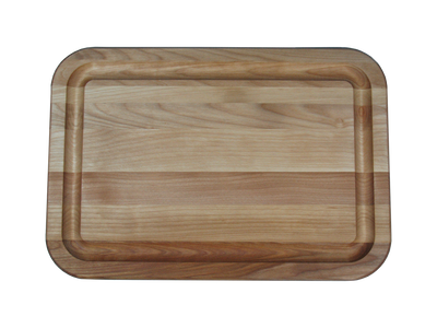 Hardwood Flat Grain Reversible Cutting Board with Juice Ring 16 x 11 Made in USA