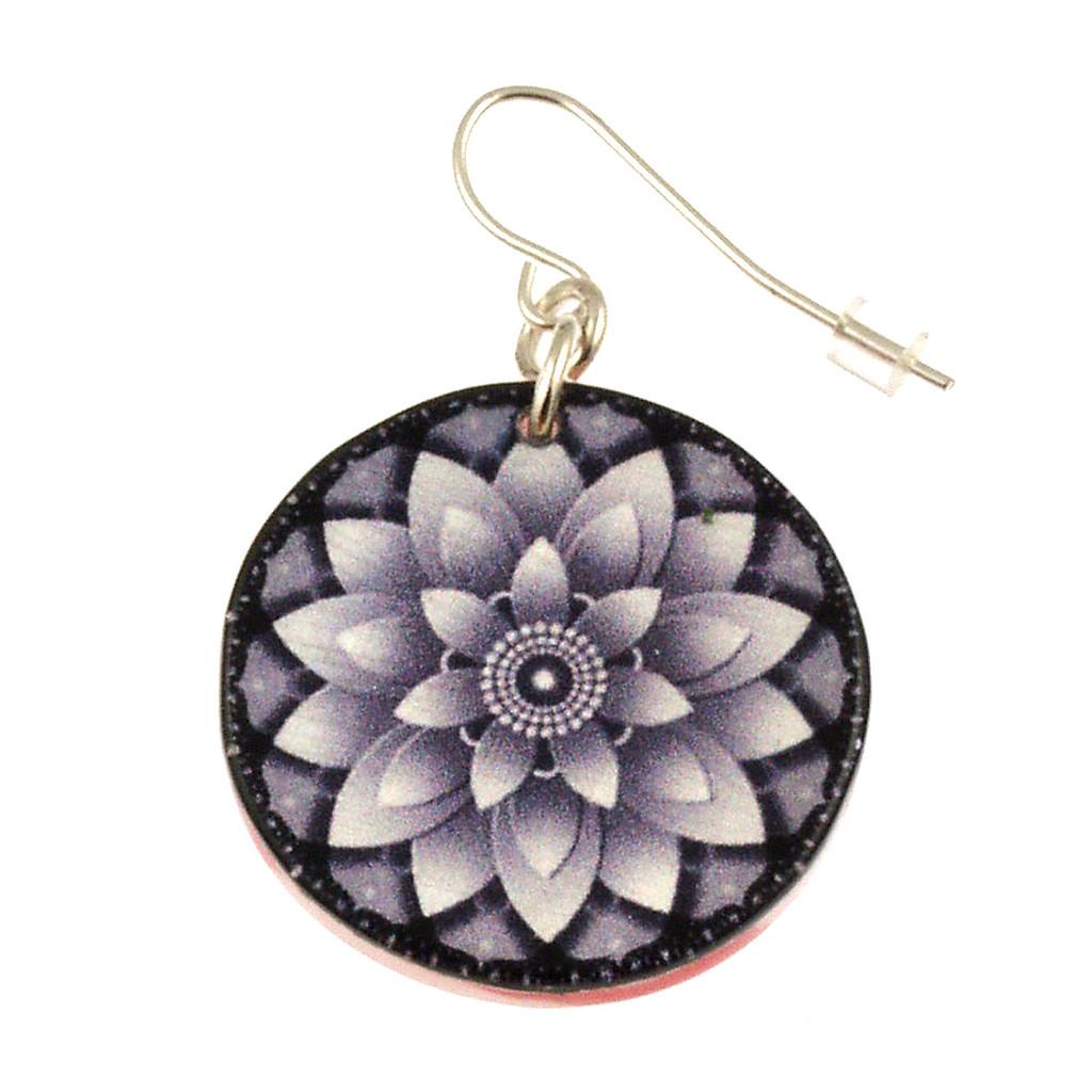 14120-111 - Upcycled Lotus Flower Earring