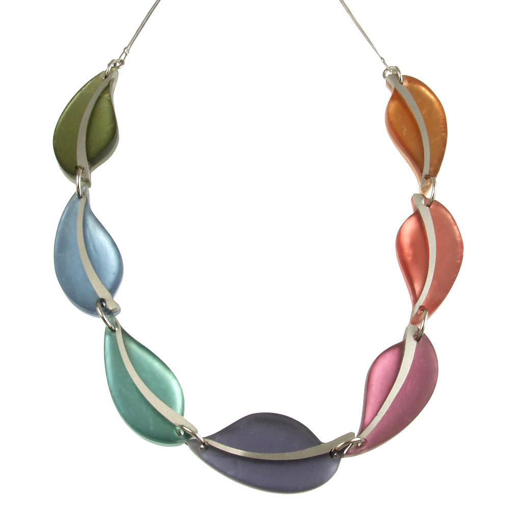 2258-5 - Autumn Leaves Necklace Pastels