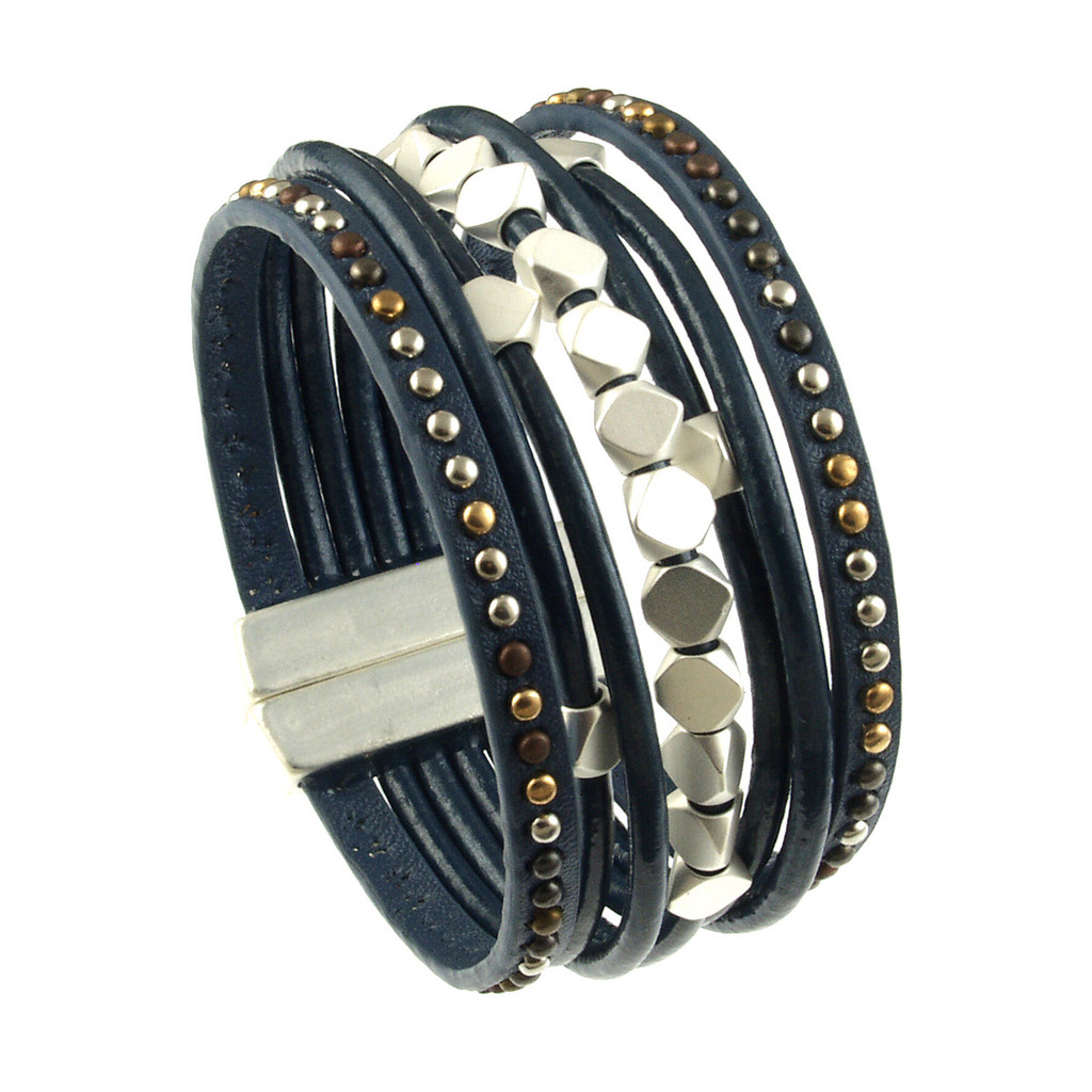 navy bracelet bracelets paracord products layered ring variants style leather survival double