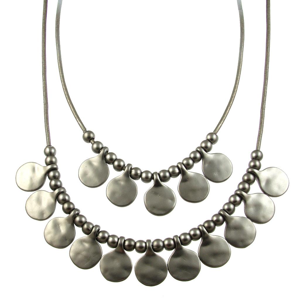 5113-44 - Matte Gunmetal/Dark Grey Gypsy Necklace