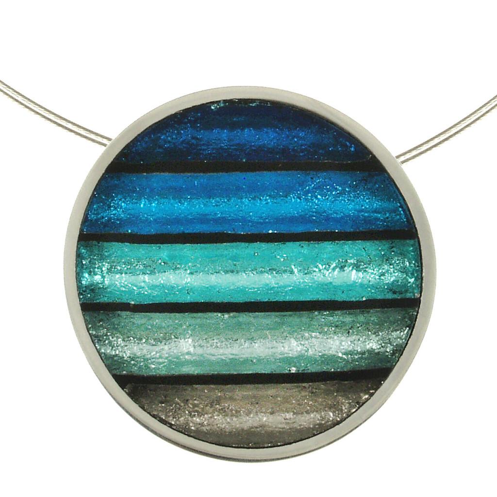 2161-2 - Gradient Pendant Turquoise