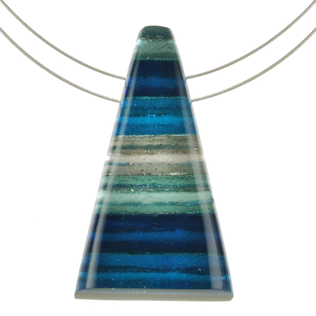 1733-2 -Pyramid Pendant Turquoise