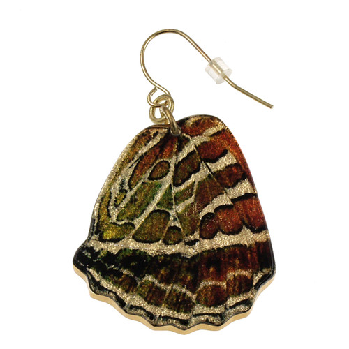 "4122-2 -Large 1 1/2"" Crescent Butterfly Wing Earring"