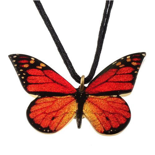 4161-13 - Full Monarch Butterfly Pendant on Cord