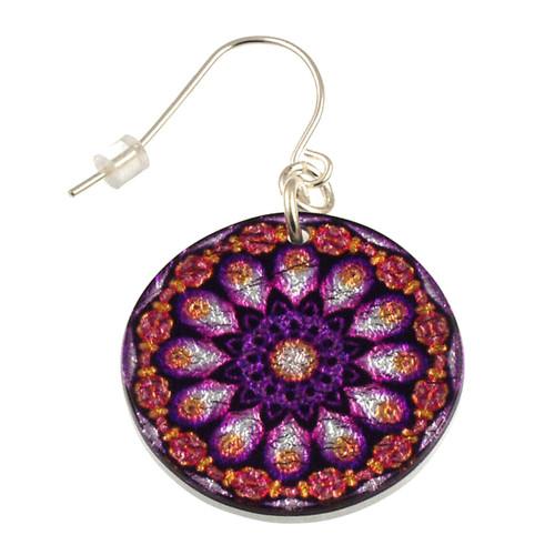 4120-140 - Purple Peacock Earring